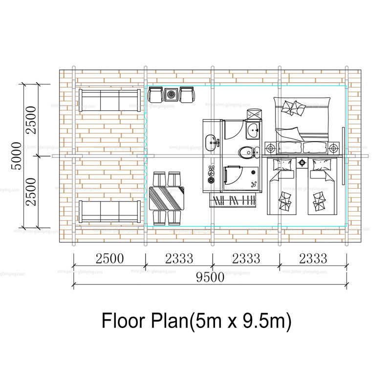 Glamping Safari Tent Floor Plan
