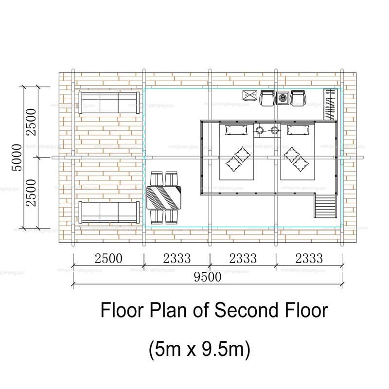 Floor Plan of Two Storey Safari Tent(Second Floor)